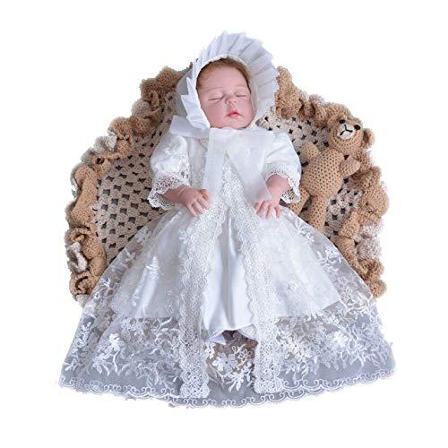 60cm~70cm ホワイト 令和 セレモニードレス 新生児 お宮参り 4点セット ベビー ドレス ニューボーンフォト 写真撮影 寝相アート 退院着 お披露目に 赤ちゃん 七五三 プレゼント お呼ばれドレス
