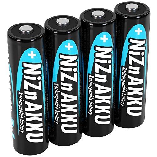 ANSMANN Nickel-Zink Akku AA 1,6V 1600mAh (2500mWh) Mignon NiZn/Ni-Zn Accu AA wiederaufladbare Batterien AA - Ersatz für 1,5V Einwegbatterien (4 Stück)