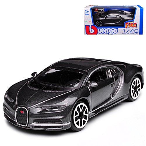 Bburago Bugatti Chiron Coupe Grau Ab 2016 1/43 Modell Auto