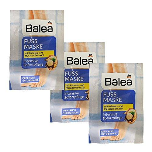 Balea Fußmaske mit Babassu & Macadamiannussöl (15m Beutel)