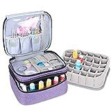Luxja organizador de esmaltes de uñas, esmaltes de uñas estuche, porta esmaltes de uñas- Sostiene 30 botellas (15 ml - 0.5 fl.oz), bolsa de almacenamiento de doble capa para lacas y manicuras, Púrpura