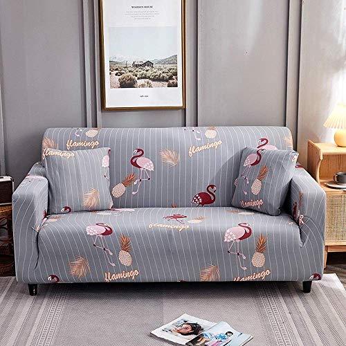 DANNEIL Fundas De Sofa Ajustables, Fundas Sofa Elasticas De Impresión Moderna, para Protector De Sofá De Sala De Estar, Todo Incluido, Pelo Anti-Mascotas (Colour5,3 Seater 180-225cm)