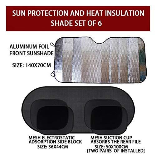 Sunscreen Universele zonneklep voor voorruit, opvouwbaar, koel voor maximale bescherming tegen UV-stralen en zon - parasol voor de voorruit