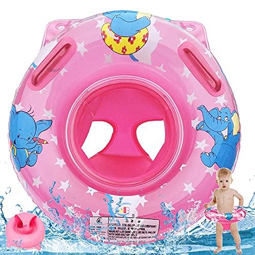 WELLXUNK Baby Schwimmreifen Ring, Aufblasbarer Baby Schwimmring, Float Kinder Schwimmring, Baby Schwimmhilfe Spielzeug, Baby Schwimmring mit Schwimmsitz, für Kleinkind 6 Monate bis 36 Monate