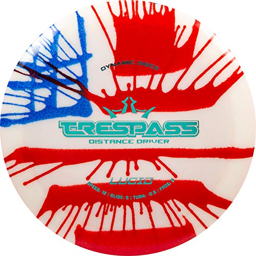 Dynamic Discs Hybrid Trespass MyDye American Flag Disc Golf Discs | Maximum Distance Frisbee Golf Driver | 170g Plus | Stamp Colors Will Vary