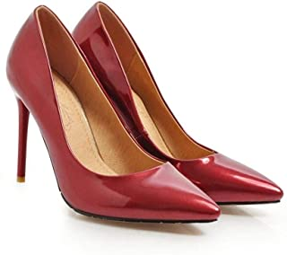 Low Top Sexy High Heels For Banquet Wedding Dress Daily (Color : Claret, Size : 44)