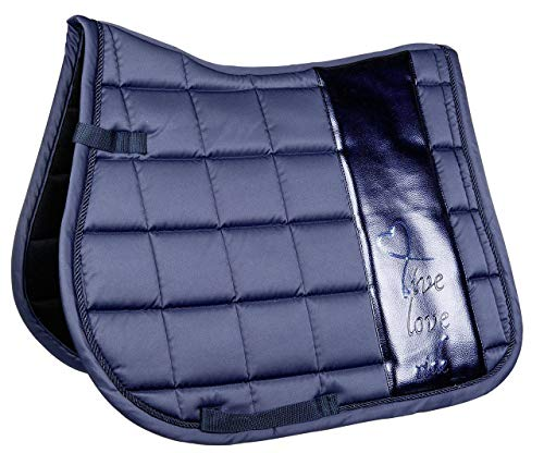 HKM Schabracke -Metallic-, dunkelblau, Dressur