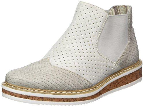 Rieker Damen N0355 Chelsea Boots, Grau (Grau/Fog), 42 EU