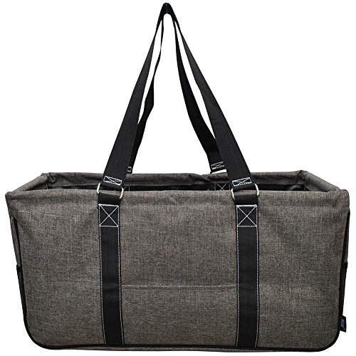 NGIL All Purpose Open Top 23' Classic Extra Large Utility Tote Bag Spring 2018 Collection (Crosshatch Khaki), X-Large