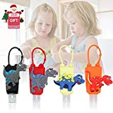 Kandice Dinosaur Kids Empty Travel Bottle,4Pcs Hand Sanitizer Holder with Silicone Case Leak Proof Refillable Travel Containers for Liquid Soap& Lotion,Travel Daily Use