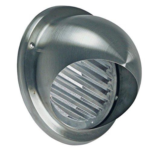 VIOKS 185x185mm Abluft Haube Lufthaube Lüftung Aussenhaube Aussengitter Anschluss: 125mm mit: Lamellen mit: Insektenschutz für Dunstabzugshaube Klimagerät oder Trockner