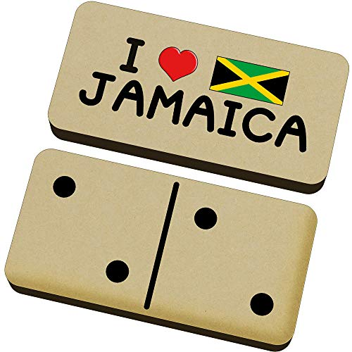 Stamp Press 'I Love Jamaica' Domino-Spiel und Box (DM00000085)
