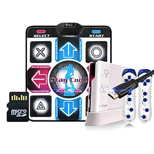Bonne Isolation Acoustique HDMI Dance Mat 18mm Simple HD Dance Machine TV Ordinateur Yoga Courir Sport Poids Accueil Perte Doux (Color : Blue)