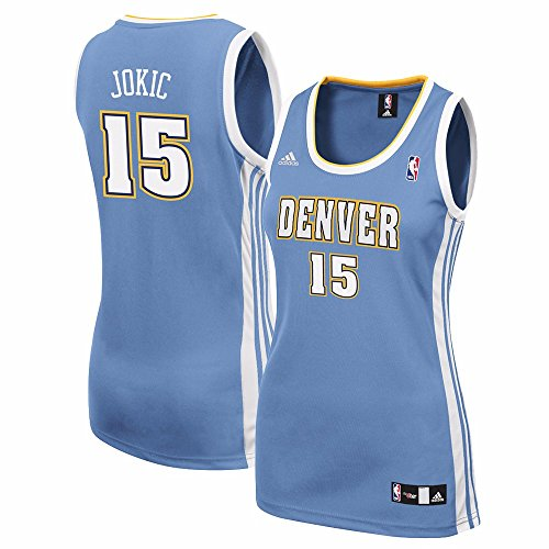 adidas Nikola Jokic Denver Nuggets NBA Women's Light Blue Replica Jersey (M)