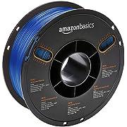 AmazonBasics - 3D-Drucker-Filament aus PETG-Kunststoff, 1,75 mm, Transparent Blau, 1-kg-Spule