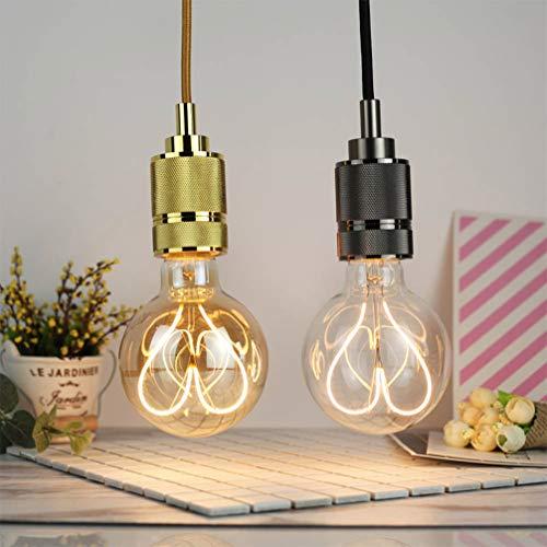 Uonlytech lampadine a forma di cuore a led cuori dorati vintage edison lampadine decorazioni per Sanvalentino casa camera da letto hotel cafe (110-130v 4w)