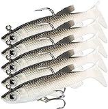 Bionic - Juego de 5 cebos de pesca para agua dulce, peces de goma con anzuelo triples, para lucio, perca, lucioperca, lucioperca (14 g)