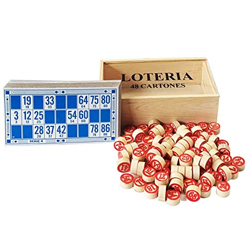 Acan Caja de Loteria con números 48 cartones