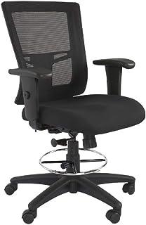 Mahmayi Isu 95550 High Back Ergonomic Mesh Office Chair with Draft Kit (Low Back, Black)
