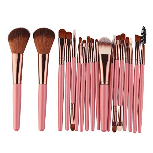 Pinceau de Maquillage Ensembles de pinceaux de Maquillage Ensembles de pinceaux de Maquillage Professionnels (18pcs) (Color : Rose, Size : One Size)