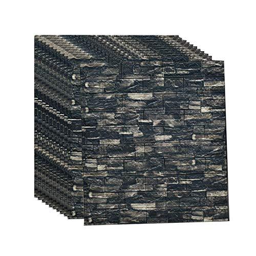 3d Brick Wandpaneele Selbstklebend Tapeten Wand Dekoration Retro Nostalgischer Ziegelstein Muster Tapete FüR Kinderzimmer Schlafzimmer Wohnzimmer, 70 * 77CM(D30pcas)