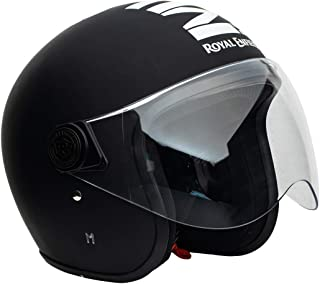 Royal Enfield Matt Black Open Face with Visor Helmet Size (XL)60 CM (RRGHEL000039)