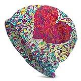 Lsjuee Pieces of Red HeartBeanie Hat para mujeres y hombres - Sombreros de punto cálidos de invierno unisex lisos