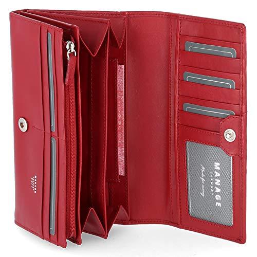 Manage Geldbörse Größe One size Rot (Rot)