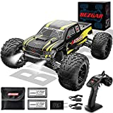 BEZGAR 1 Hobby Grade 1:10 Scale Remote Control Truck, 4WD High Speed 48+ kmh All Terrains Electric Toy Off Road RC Monster Vehicle Car Crawler with 2 Rechargeable Batteries for Boys Kids and Adults