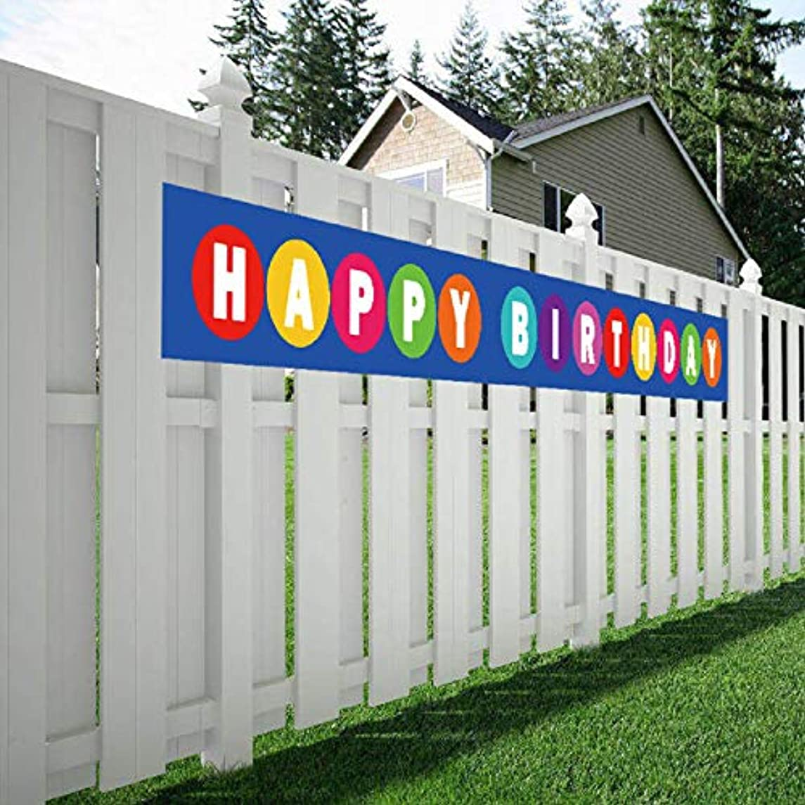 Large Happy Birthday Banner, Huge Bday Sign, Colorful Hanging Decorations, Party Supplies