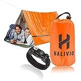 Halivio Emergency Tent/Emergency Blanket for Emergency Shelter- Survival Tent Bivy -Emergency Sleeping Bag -Bivvy Bag and Survival Bracelet-Tube Tent