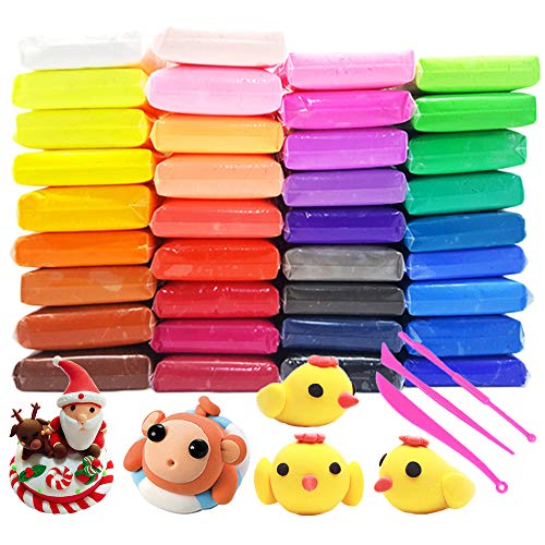 Air Dry Clay 36 Colors Magic Modeling Clay,Ultra Light DIY Clay with Sculpting Tools for Children,Kids,Gifts,Crafts