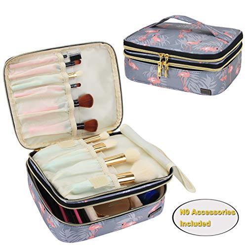 Teamoy Kosmetiktasche für Make-up Pinsel, Reise kosmetikbeutel, Pinseltasche Kosmetik, Organizer Reise Kulturtasche für Damen & Mädchen, Flamingo