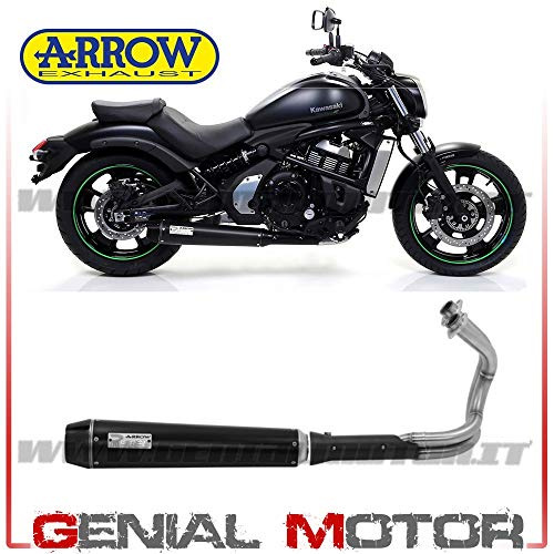 74505RB+74003KZ Komplett Auspuff Kat Arrow Rebel Acc Schw Vulcan S 650 Cafe 2017 > 2019