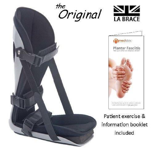 LA Brace Plantar Fasciitis Night Splint (Large UK 9-14) - Including Dorsiflexion Toe Wedge Lycra Lined Foam Padded Achilles Tendonitis , Plantar Fasciitis Overnight Treatment