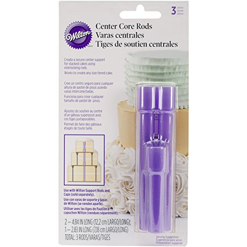 Wilton 3-Piece Center Core Cake Rods, Purple