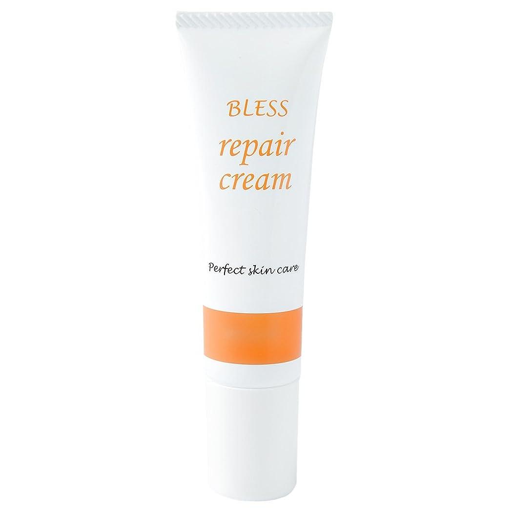 見積り無声で異形【BLESS】 しわ 対策用 エイジング リペアクリーム 30g 無添加 抗シワ評価試験済み製品 日本製 美容液