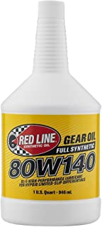 Red Line 58104-12PK 80W140 Synthetic Gear Oil - 1 Quart, (Pack of 12)