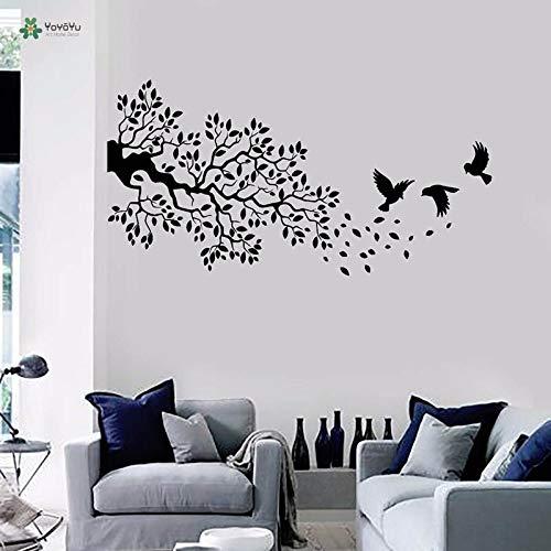 Vinyl muur sticker vogel vliegen op de tak tak landschap woonkamer kunstenaar huisdecoratie muursticker 85x168cm