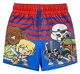 Star Wars Toddler Boys Swim Shorts Swim Bathing Suit Red/Blue 2T