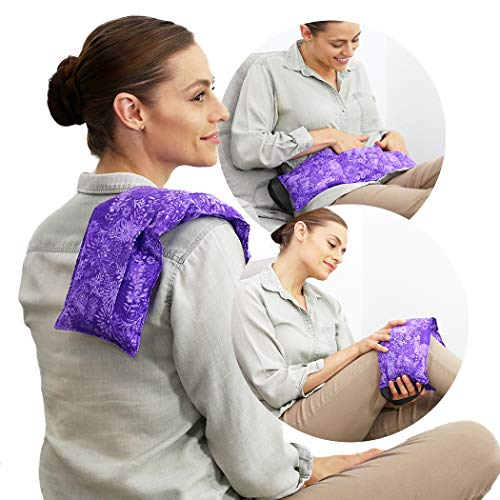 Hot Pockets Microwavable Heating Pads for Back Pain Relief - 3 Pockets...