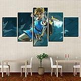 bnkrtopsu 5 Cuadro en Lienzo 5 Fotos Juntas en una Sala de Estar Dormitorio Creativo murales Decorativos y Carteles(Sin Marco) película de Leda Elgen Archer