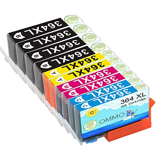 10 Druckerpatrone 364XL HP-364 Kompatibel mit HP OfficeJet 4620 4622 Photosmart 5520 5524 6520 5510 7520 6510 5515 B8550 C5380 C6380 C5380 C5390 Deskjet 3070A 3520 3524 3522 Patronen -Colorfish