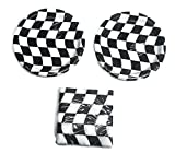 "Open Wheel Indy Car Racing Checkard Flag Party 7"" Plates (16) Napkins (16)"