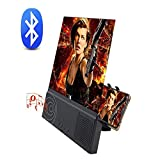 12'' Phone Screen Magnifier with Bluetooth Speaker– 2020 New Version Mobile Phone 3D Magnifier Projector Screen for Movies, Videos, and Gaming – Foldable Phone Stand with Screen Amplifier – Compatible