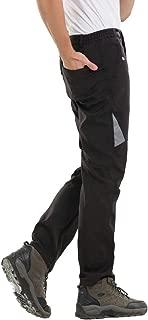 Aufgevals Men's Windproof Waterproof Softshell Fleece Ski Pants