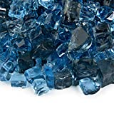 Kenai Blue - Fire Glass Blend for Indoor and Outdoor Fire Pits or Fireplaces | 10 Pounds | 1/2 Inch