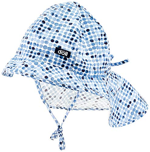 Döll Mädchen Sonnenhut mit Nackenschutz Mütze, Blau (Total Eclipse|Blue 3000), 53