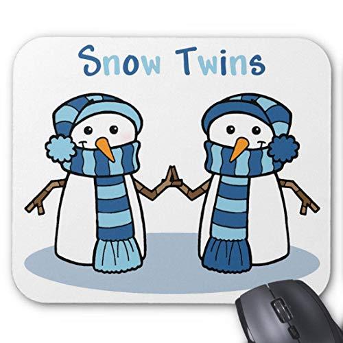 Alfombrilla de ratón antideslizante de goma divertida para juegos de nieve gemelos niños