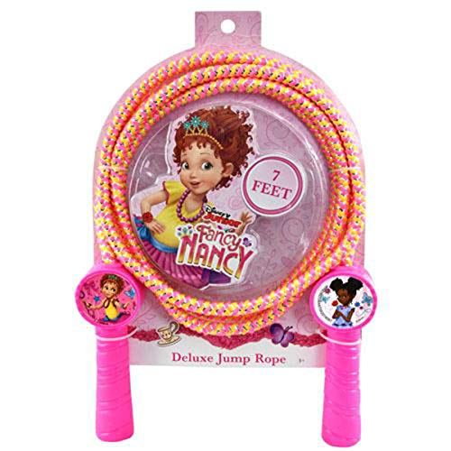 Disney Junior Fancy Nancy 7 Ft Deluxe Jump Rope Outdoor Indoor Jumping Exercise Work Out Toy for Girls Age 3 Activity Party Favor Gift Set - TV Cartoon Character Series Collection for Kids